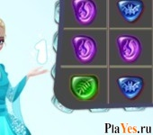 онлайн игра Frozen Elsa Crystal Match
