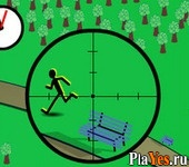 онлайн игра Kill Stickmen Park