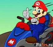 онлайн игра Mario Bike League
