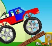 онлайн игра Mario Monster Truck Ride
