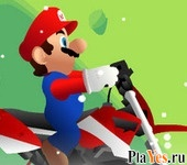 онлайн игра Mario Motocross Snowing