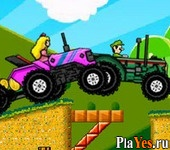 онлайн игра Mario Tractor Multiplayer