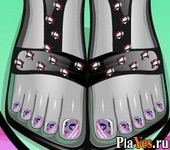 ������ ���� Monster High Foot Makeover