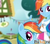онлайн игра Rainbow Dash Pony vs Human