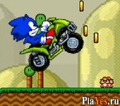 онлайн игра Sonic ATV in Mario Land