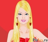 онлайн игра Sweetheart Barbie Dressup