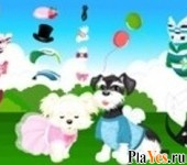 онлайн игра Two Puppy Dress Up