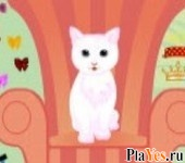 онлайн игра White Cat Dressup