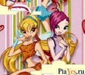 онлайн игра WInx Club Bloom JigSaw